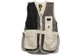 BG SHOOTING VEST TRAPPER CREEK LARGE RH SAND/BLACK MESH - 3050262803