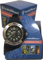 S&W MEN'S MIL/POLICE STYLE WATCH BLACK POLY WRIST STRAP - SWW-W-HF23