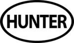 OUTDOOR DECALS HUNTER OVAL - OD6118WH
