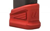 ZEV EXTNDD BASE PAD +5 FOR GLOCK RED - BPAD-EXT-GLK-5-