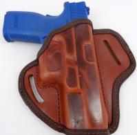 Brown Leather Belt Holster Open Top Molded for perfect fit - AK2B136FB