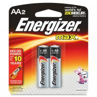 2 Pk, AA Energizer Max Battery - E91BP-2