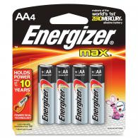 4 Pk, AA Energizer Max Battery - E91BP-4