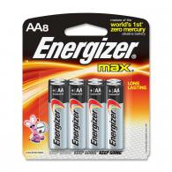 8 Pk, AA Energizer Max Battery - E91MP-8