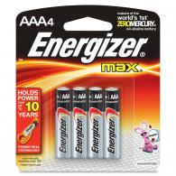 4 Pk, AAA Energizer Max Battery - E92BP-4