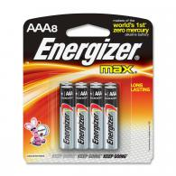 8 Pk, AAA Energizer Max Battery - E92MP-8