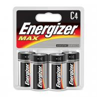 4 Pk, C Energizer Max Battery - E93BP-4