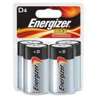 4 Pk, D Energizer Max Battery - E95BP-4