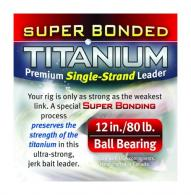 Titanium Single Strand Leader With Ball Bearings - 12/80TTS