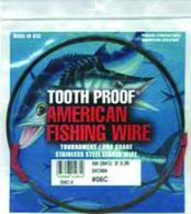 Tooth Proof Stainless Steelsingle Strand Leader Wire - S02C-0
