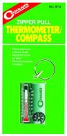 Zipper Pull Thermometer/compass - 9714
