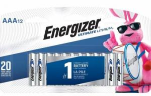Eveready L92SBP12 Ultimate Lithium Batteries, AAA, 12/Pack - L92SBP-12