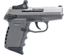 "SCCY Semi-Auto Pistol, 9MM, 3.1"" Bbl, Two-Tone, SS, Sniper Gray, Crimson Trace Red Dot Sight, Manual Safe - CPX1TTSGRD"