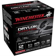 "Winchester Drylok Super Steel HV 12 GA 3.5"" 1-1/2oz #BB 25/bx (25 rounds per box)"