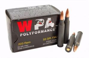 Wolf Ammo 223 55gr FMJ Polyformance (20 rounds per box) - WO22355