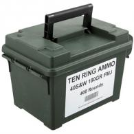 Ten Ring Ammo Can 40 S&W 180gr FMJ 400/Can (400 rounds per box) - TR40180FMJ400