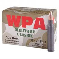 Wolf Military Classic 223 Rem 55gr HP 20/bx - WOMC22355HP
