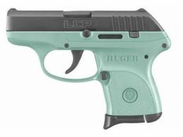Ruger LCP .380ACP Black/Turquoise 6rd - 3746