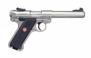 "Ruger Mark IV Target .22 LR  Single 5.5"" 10+1 Black Synthetic Grip Stainless Steel - 40103"