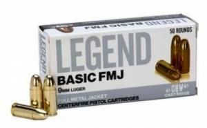 Legend AMMO 9MM 124GR Solid Subsonic 50 rounds