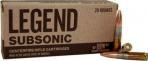 Legend AMMO .300 AAC 200GR. Solid Subsonic 20 rounds - L300SSB