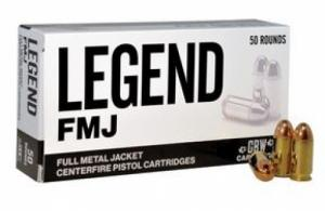 Legend AMMO .40SW 180GR FMJ 50 rounds - L40A