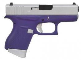 "GLOCK 43 9MM 3.39"" FS 6R CERAKOTE PURPLE/ALUMINUM"