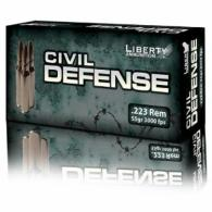 LIB AMMO CIVIL DEFENSE .223 Remington 55GR COPPER 20/50 - LACD223019