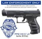 "Walther PPQ M2 9mm 5"" Black 15rd"