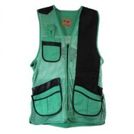 Peregrine MizMac Womens Perfect Fit Mesh Vest Genuine Leather Pad, Turquoise, Left Hand, Small - MIZ-820-TQ-LH-S