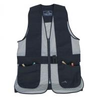 Peregrine Wild Hare Primer Mesh Vest Ambidextrous, Black/Silver, Youth Large - WH-421S-BS-YL