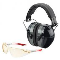 Champion Traps and Targets Eye and Ear Protection Combo, Black  - 40626