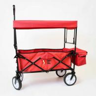 Premium Collapsible Outdoor Utility Wagon With Canopy & Cooler Compartment - FWRC