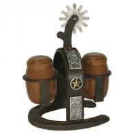 Rivers Edge Cast Iron Spur Salt and Pepper Shaker 1094 - 1094