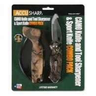 AccuSharp Sharpener and Sport Folding Knife Cmb - Camouflage - 042C
