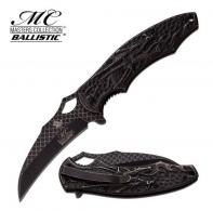 Master Assisted 3.75 in Blade Black Stainless Etched Handle - MC-A037SW