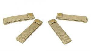 "MOLLE Small 4"" Straps 4ea/ Tan - CVMSS3012T"