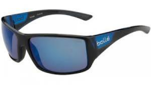 Bolle 11928 Tigersnake Sporting Glasses Shiny Black/Matte Blue Frame Blue Mirro - 11928