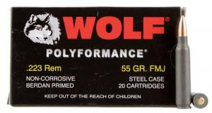 Wolf MC22355HP 223 Rem/5.56 Nato FMJ 20 bx/500 case - MC22355HP