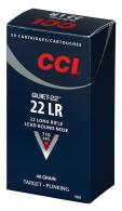 CCI 960 Quiet-22 .22 LR  40 Grain LRN 50/bx - 960