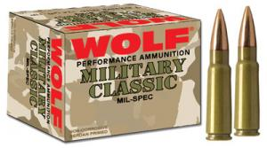 Wolf Military 308 Winchester (7.62 NATO) Full Metal Jacket - CASE - MC308165HP