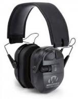 Walkers Game Ear GWPXPMQB Ultimate Series Power Muff Quads Black Earmuff 27 dB - GWPXPMQB
