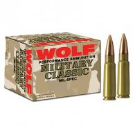 Wolf MC308SP168 Military 308 Winchester (7.62 NATO) Soft Point - 500 Rnds - MC308SP168