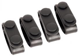 Blackhawk 44B300BK Belt Keeper Set of 4 Black Nylon - 44B300BK