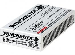 Winchester Ammo USA556JF Target & Range 223 Remington/5.56 NATO 45 GR Jacketed