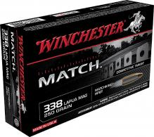 Winchester Ammo S338LM Match Boat Tail Hollow Point 338 Lap