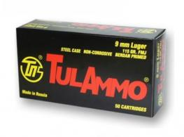 Tulammo TA919100 Tulammo 9mm Full Metal Jacket 115 GR 100 Ro