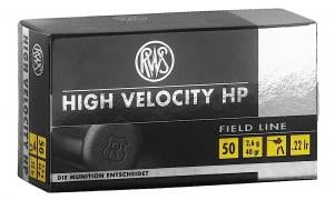 RWS 2132494 22LR 40GR High Velocity Hollow Point 50 Per Box