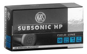 RWS 2132664 22LR Subsonic 50 Rounds Per Box