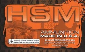 HSM 9MM4R 9mm Full Metal Jacket Round Nose 124 GR 50Box/20Ca